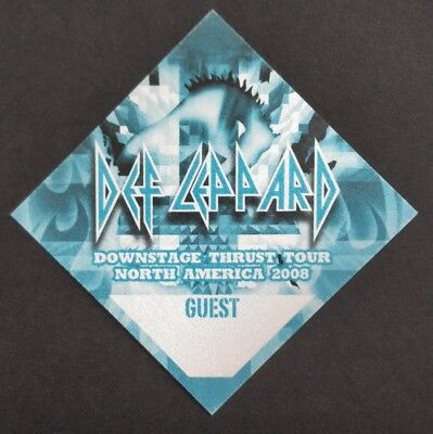 Def Leppard Backstage Guest Pass 2008