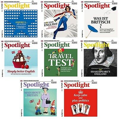 8 x Spotlight Englisch AUDIO - November-April 2017 - komplett  OVP