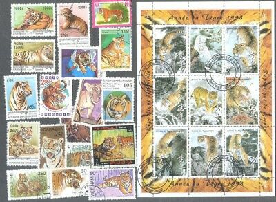 Tigers 25 different stamps