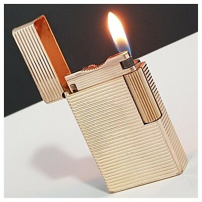 Briquet gaz * St Dupont Paris *Gold.Plate- Lighter-Feuerzeug-Accendino