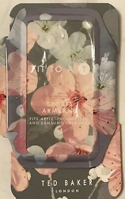 BNIB Ted Baker Floral Blosson Dark Grey Sports Armband. iPhone & Samsung