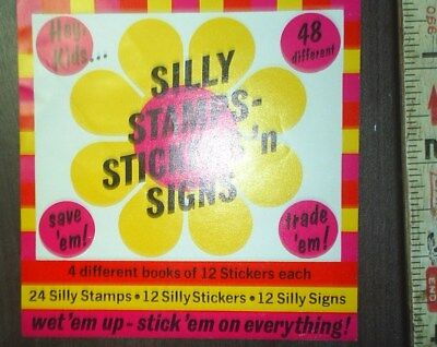 NOS Ad Card from a Gumball machine Silly Stamps Stickers n Signs ad Card