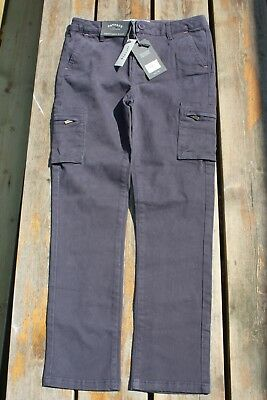 BNWT girls 10-11yrs CARRIE CARGO trousers by FAT FACE charcoal grey