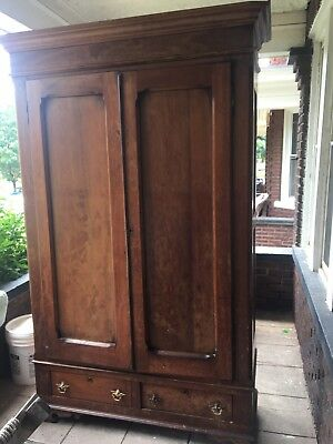Antique Victorian 1860-1870, Armoire, Wardrobe or Closet