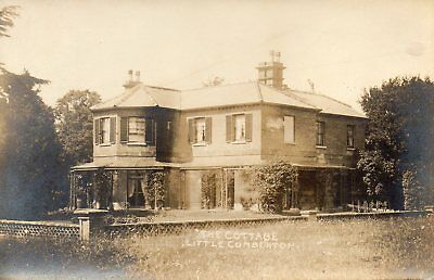 OLD POSTCARD 1900's - LITTLE COMBERTON THE COTTAGE - PERSHORE - SEASONS GREETING