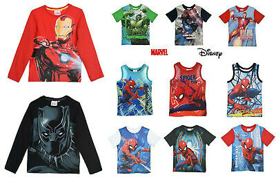 garçon enfant Toy Story Spiderman Marvel Avengers manche T-shirt 18m-10y