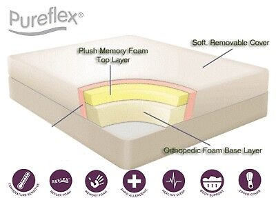 "Reflex foam orthopaedic mattress 2ft6, 3ft, 4ft, 4ft6, 5ft, 6ft  6"" 8"" 10"" 12"""