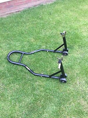 REAR paddock STAND Lift Motorcycle paddock Bike TRACK for Bobbins Workshop
