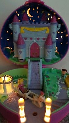 POLLY POCKET Star Light Castle Bluebird 1993 Light Up Vintage 90s toys