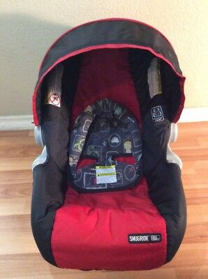 Graco Click Connect 30 35 Baby Car Seat Cover Cushion Canopy Set Black Red