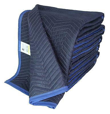 72 X 80 Inches Delux Moving Blankets, 45 Lbs/dozen, Blue/Dark, Cheap, Pack of 12
