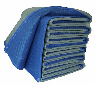 72 X 80 Inches Delux Moving Blankets, 65 Lbs/dozen, Blue/Gray, Cheap, Pack of 12