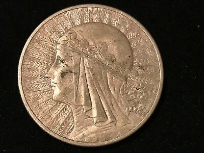 T2: World Coin Poland 1932 10 Zloty. Free Shipping in U.S.