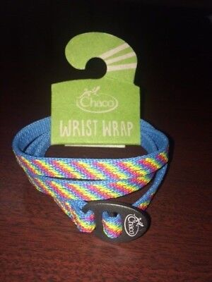 CHACO UNISEX WRIST WRAP CREST one size Fiesta blue yellow red rainbow colors