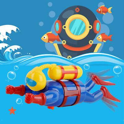 Baby Kid Bath Toy Creative Swimming Diving Scuba Diver Shape Wind-up Bathtub Toy