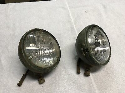 Original Ford Marked  Head Light Housing Ford GPW Willys MB Army Jeep Slat Grill