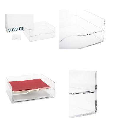 Unum Clear Acrylic Desktop Letter Tray 2 Tier Desk Organizer Double Tra