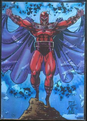 1993 Uncanny X-Men Series II Holithograms Trading Card #H2 Magneto