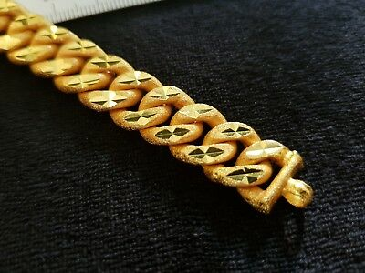 High Quality Gold Plated GP Cuban Curb Bracelet 200mm