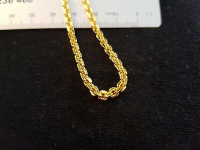 High Quality Gold Plated Shinny Link Necklace 500mm