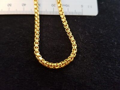 High Quality Gold Plated Box Chain Necklace 500mm