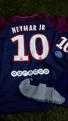 hot sale online 60e6d 36cd1 NEW NEYMAR JR Kids Home Nike Psg Kit With Ligue 1 Sleeve Patch. Age 7-9  Years