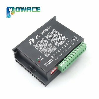 New Hybrid Stepper Motor Driver 5A 2 phase 12-48V DC 16 microstep For CNC Router