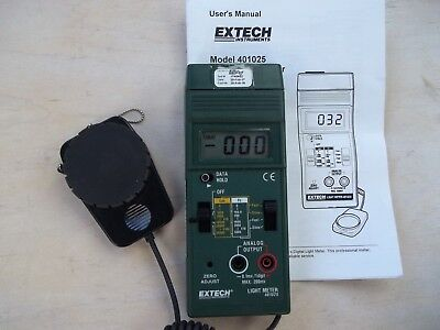 extech light meter 401025 foot candle/lux