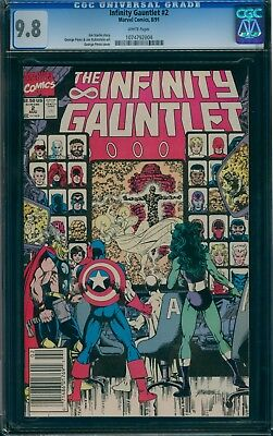 Infinity Gauntlet 2 CGC 9.8 WHITE pages!