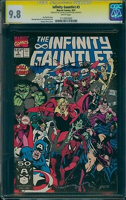 Infinity Gauntlet 3 CGC 9.8 SS x2 (Perez, Starlin) WHITE pages!