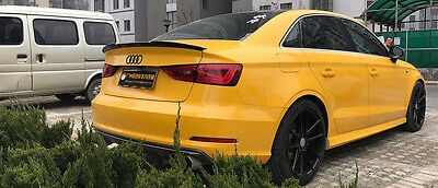 Carbon Fiber Rear Boot Trunk V Type Spoiler For Audi A3 S3 Saloon 2014 2016
