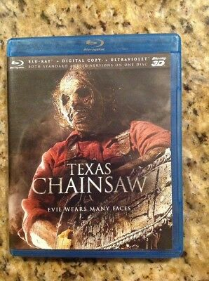 Texas Chainsaw 3D (Blu-ray Disc, 2013,3D/2D)Authentic US RELEASE