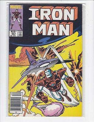 The Invincible Iron Man #201 newsstand - Very Fine/Near Mint