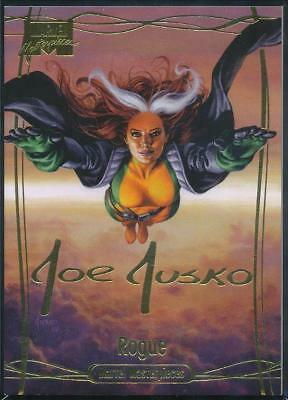 2016 Marvel Masterpieces Gold Signature Trading Card #43 Rogue /1499