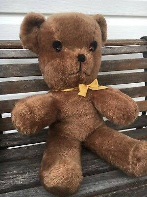 Large Big Vintage Plush Brown Teddy Bear 1970s Soft Toy Collectable 82cm