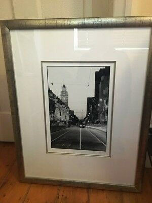 Huge beautifully framed photograph of Melbourne CBD - issue 37 of 200