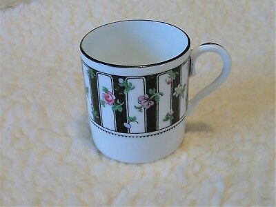 Vintage Crown Staffordshire tiny floral  coffee Cup
