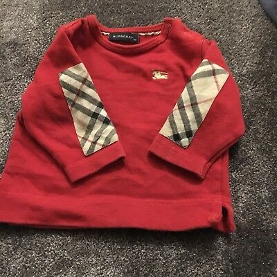 Baby Boy Burberry Top 3-6 Months