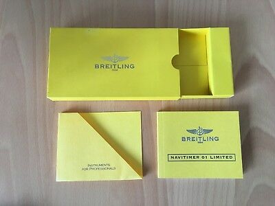 BREITLING Navitimer 01 Limited Bedienungsanleitung Booklet Instructions Manual