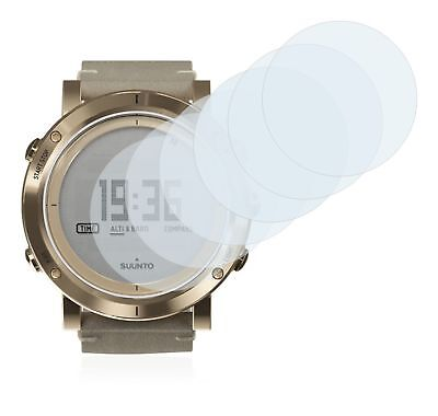 Suunto Essential Gold Smart Watch, 6 x Transparent ULTRA Clear Screen Protector