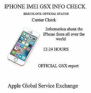 iPhone / iPad - Full GSX Report by IMEI [ 1-24 hours]