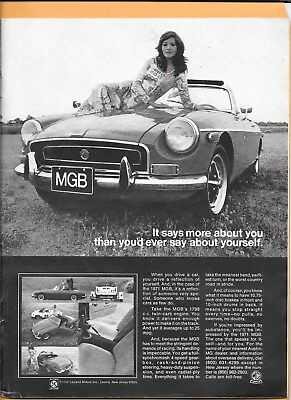 Original 1971 MGB Ad ~It says more about you than you'd ever say about yourself.