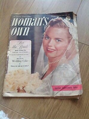 Woman's Own May 30th 1957 Summer Wedding Magazine + daphne de Maurier story