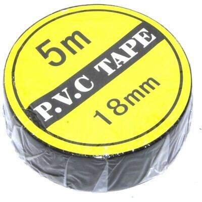 5m Black PVC Tape 16mm Electronics Toolkit Insulating Mains Wiring Flux Workshop