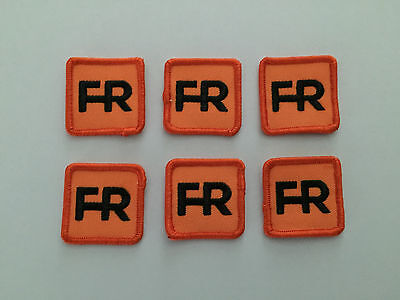 """6 fr patches - 1 1/2"""" square.  Iron on or sew on."""