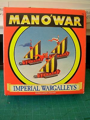 Fantasy Man o'War Empire Wargalley Squadron of 3 in Original Box Rare OOP