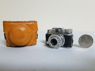 Vintage HIT Miniature Subminiature Mini Spy Camera w/Case Made in Japan NOT work