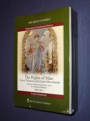 Teaching Co Great Courses  DVDs :           THE RIGHTS OF MAN       new & sealed