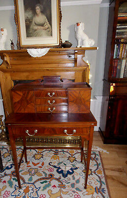 Maple & Co, Edwardian, walnut, ladies, dainty writing desk. Original condition
