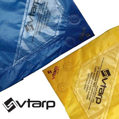 vtarp ®  BLUE YELLOW  HEAVY DUTY WATERPROOF STRONG TARPAULIN  Multi-layers 90GSM